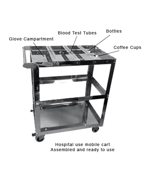 Stainless steel cart - Medical