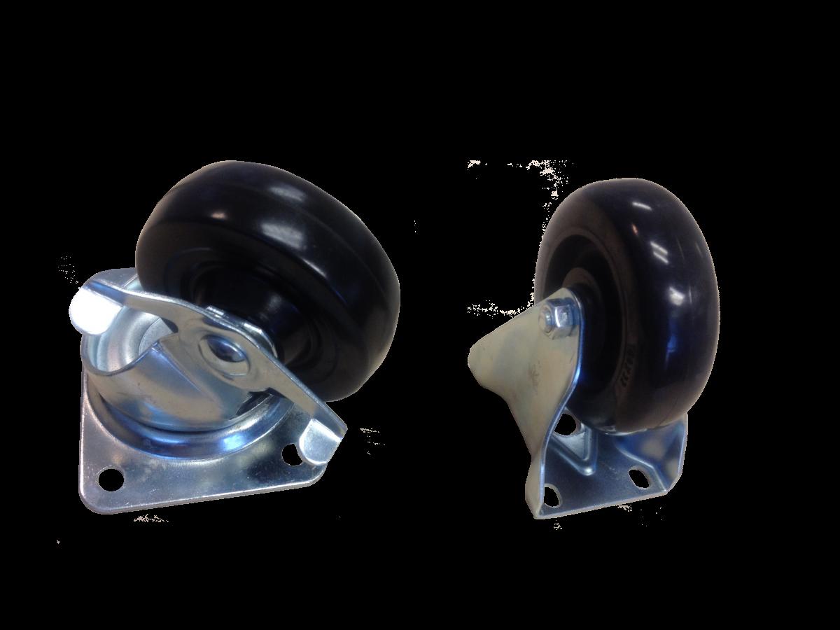 2 Swivel with brake castor