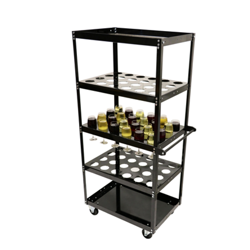 5 Shelf Liquor Cart