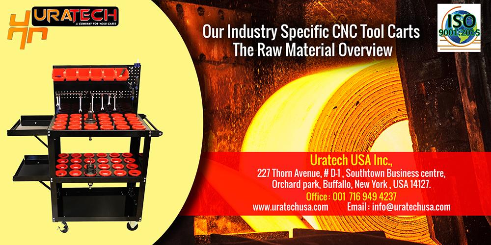 CNC tool carts raw material