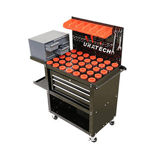 Tool carts with Lockable drawers & Peg board